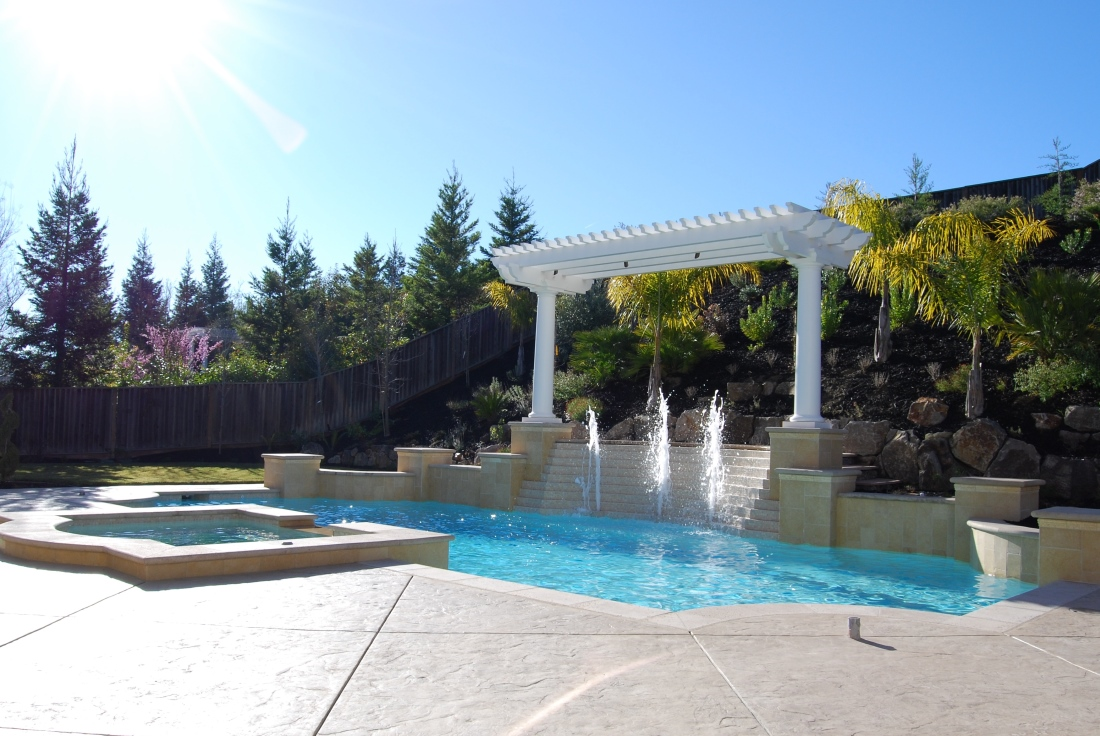 Swimming pool remodel in San Ramon, Danville, Lafayette and Pleasanton